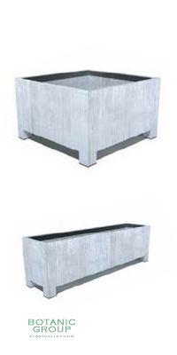 Stahlpflanzgefäß ZINK Trendline EXKLUSIVE mit Füßen