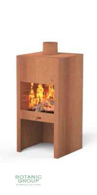 Garden fireplace Cortenstahl FIRESTAR BLOCK