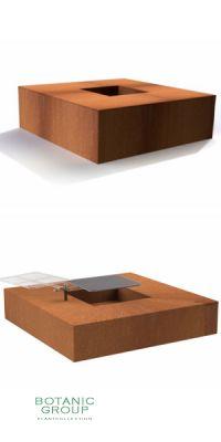 Feuerschale Designline Cube aus Cortenstahl