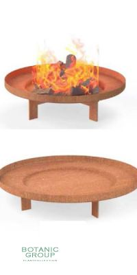Fire bowl from Cortensteel with underframe BC