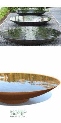 Cortenstahl- Wasserschale