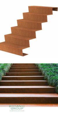 Treppe, Cortenstahl, Gartentreppen Designline