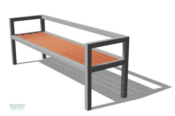 parkbank sitzbank slc10 edelstahl mit holz. Black Bedroom Furniture Sets. Home Design Ideas