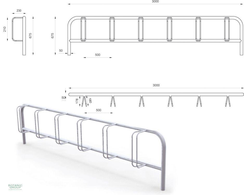 edelstahl fahrradst nder slc03. Black Bedroom Furniture Sets. Home Design Ideas