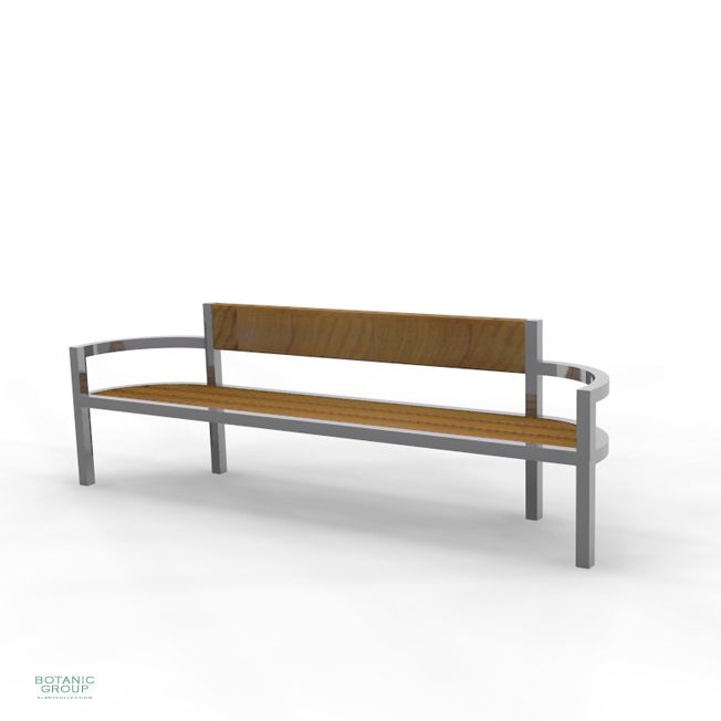 Park Bench Bench Slc19 Stainless Steel With Wood