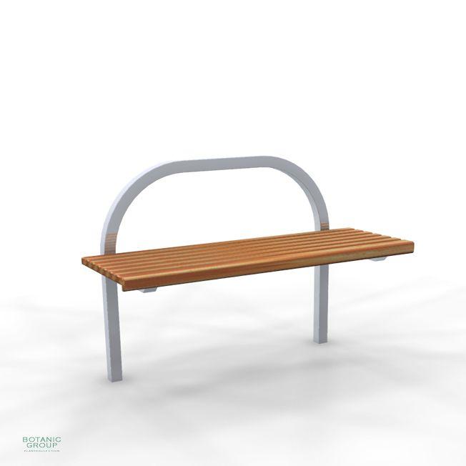 freiraumausstattung gartenbank slc24 edelstahl mit holz. Black Bedroom Furniture Sets. Home Design Ideas