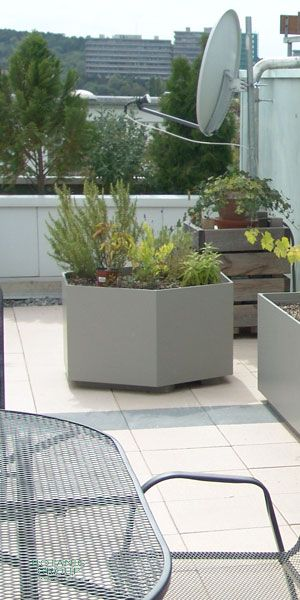 pflanzgef faserzement designline pflanzk bel sechseck xxl. Black Bedroom Furniture Sets. Home Design Ideas