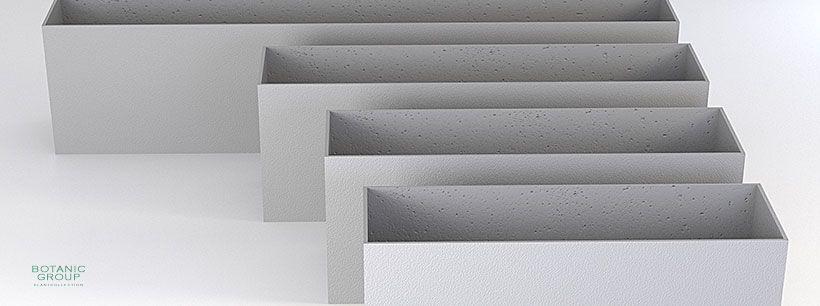 Concrete Planter Poly Rectangle Individual