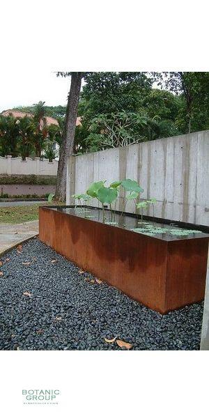 cortenstahl brunnen wasserwand und becken aus corten. Black Bedroom Furniture Sets. Home Design Ideas