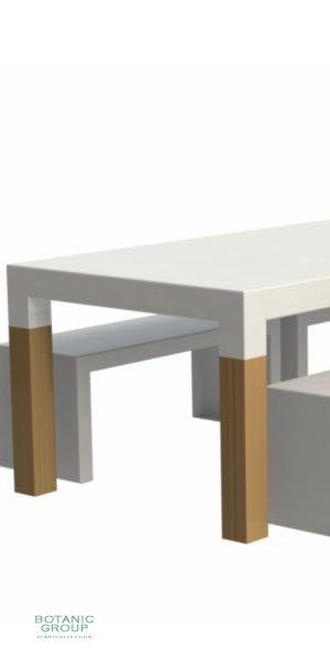 au enm bel tisch solid gartentisch aus aluminium holz. Black Bedroom Furniture Sets. Home Design Ideas