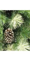 Plastic christmas tree silver glitter