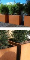 Cortenstahlpflanzgefäß BC Designline BASIC-CUBE, Pflanzkübel