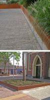 Baumeinfassung, Rasenkante Cortenstahl mit 90° Winkel in 300 mm