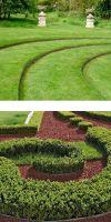 Corten steel lawn edge with round rim in 100 mm Height