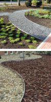 Galvanized steel lawn edge round in 100 mm Height