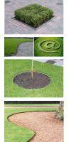 Galvanized steel lawn edge round in 150 mm Height