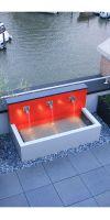 Design- Brunnen, Wasserwand mit Aluminiumbecken