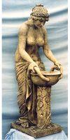 Frauen-Statue Despina - mit Pflanzenschale